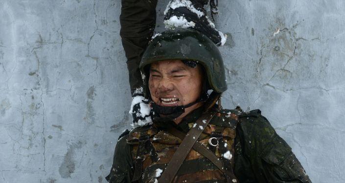 La carrera con obstáculos del centro de formación Gorny en Novosibirsk.