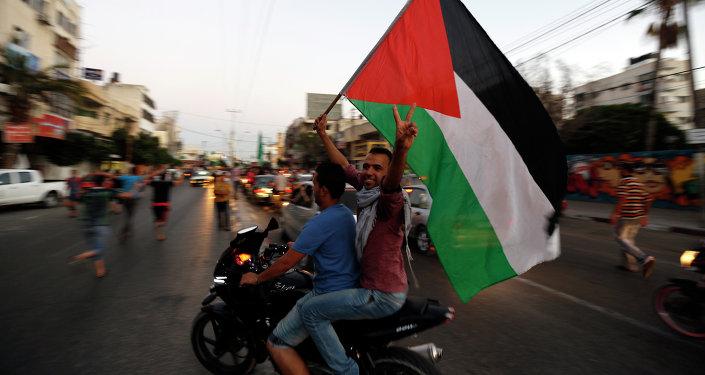 Los palestinos en la ciudad de Gaza
