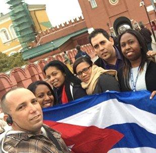 Delegación de jóvenes cubanos en el Kremlin (archivo)