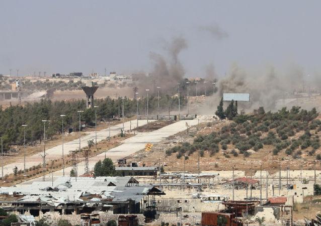 El humo cerca del camino de Castelo en Siria (archivo)