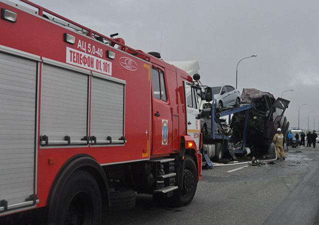 El accidente de tráfico en Osetia del Norte