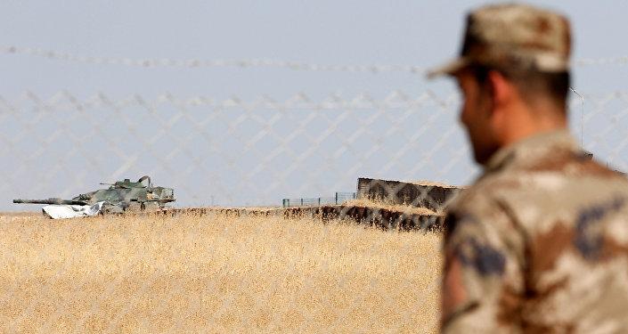 Las fuerzas turcas cerca de Mosul, Irak (archivo)