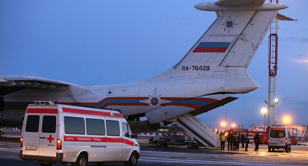 Un avión del Ministerio de Emergencias ruso