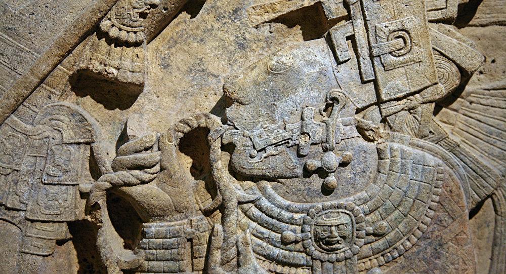 Detalle del dintel 24 de Yaxchilán, México