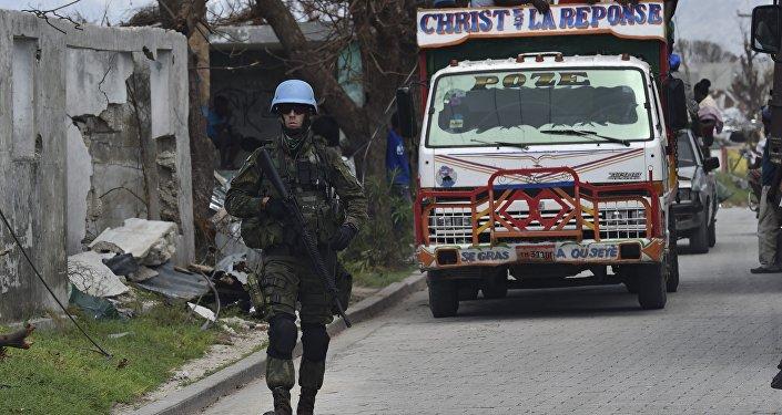 Soldado de la ONU en Haití
