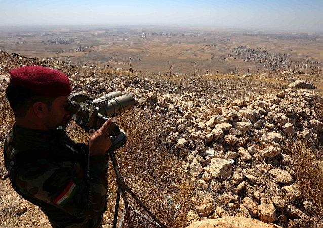 Un kurdo peshmerga (archivo)