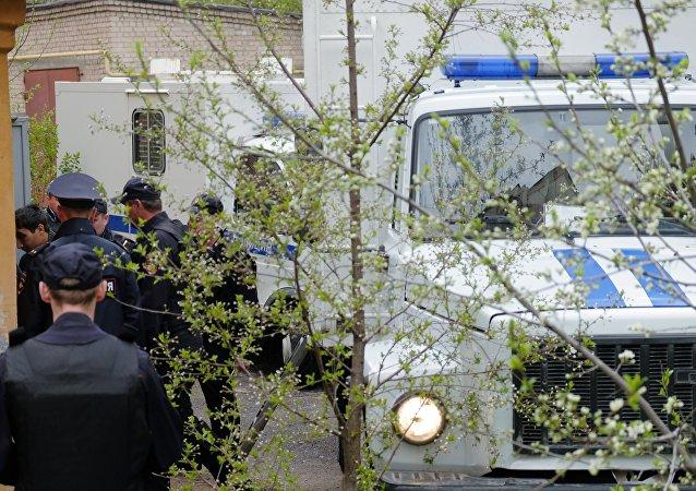 Policía en Abjasia (archivo)