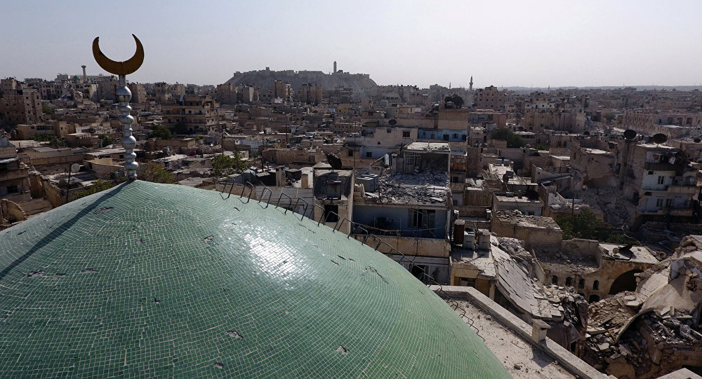 Edificios destruidos en Alepo