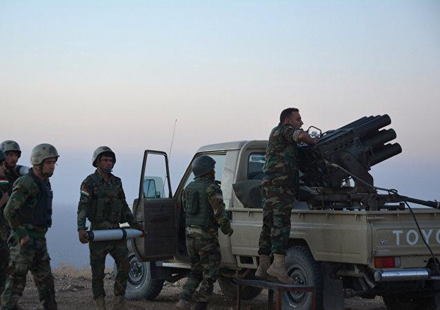 Los peshmerga, ubicados en el este de Mosul, atacan las posiciones de Daesh