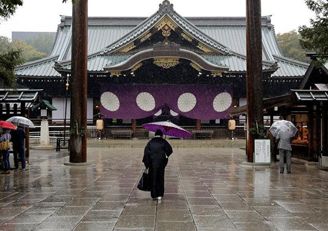 El templo de Yasukuni en Tokio, Japón