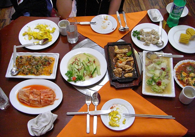 Una comida en un restaurante norcoreano