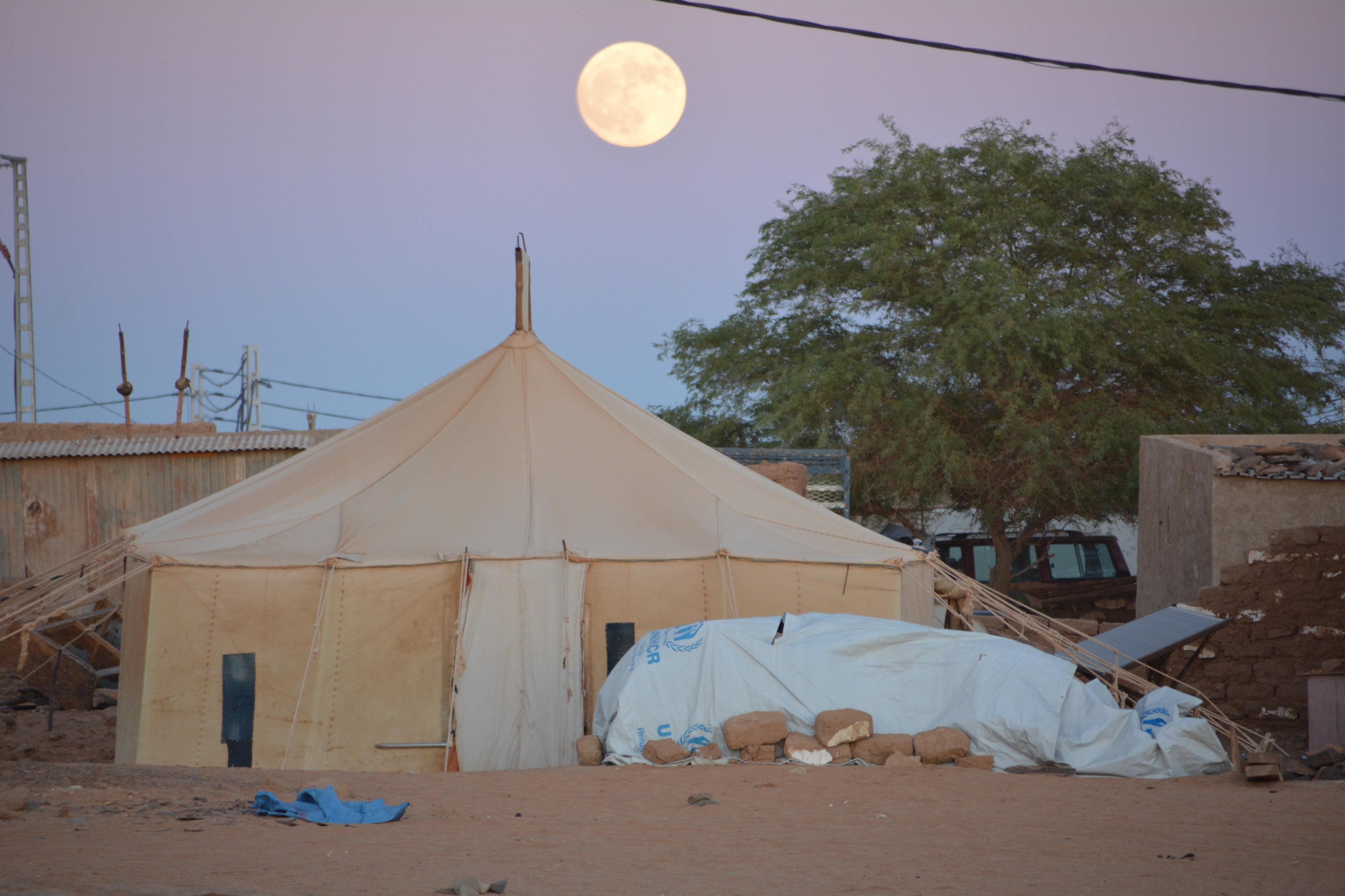 Campo de refugiados en Dajla, Sáhara Occidental