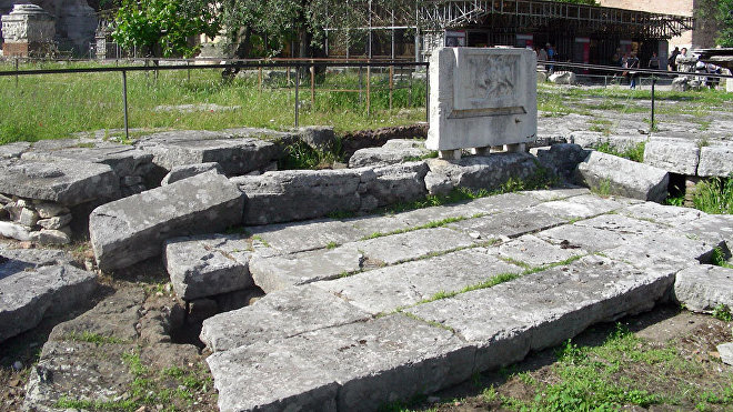 Lacus Curtius, Roma, Italia