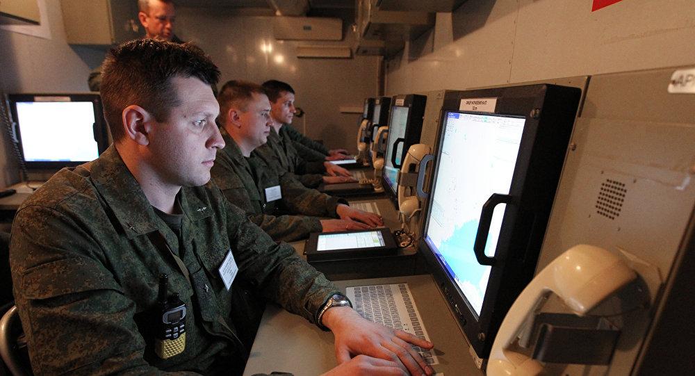 Un centro de mando del Ejército ruso