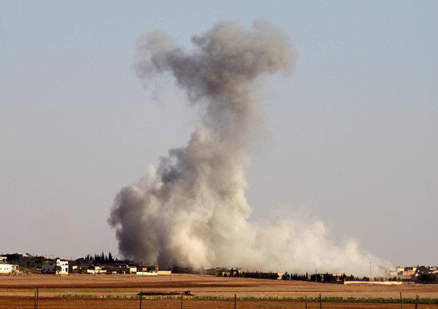 Los bombardeos en Alepo, Siria
