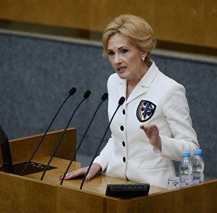 Irina Yarovaya, la vicepresidenta de la cámara baja del Parlamento ruso