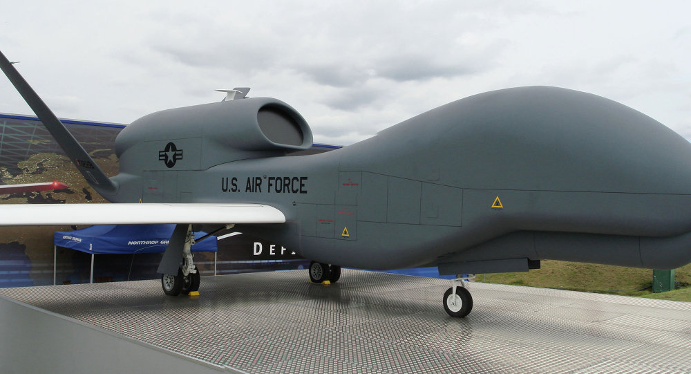 Avión no tripulado de EEUU RQ-4 Global Hawk