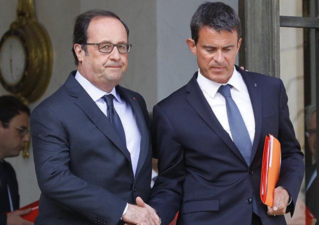 Francois Hollande y Manuel Valls