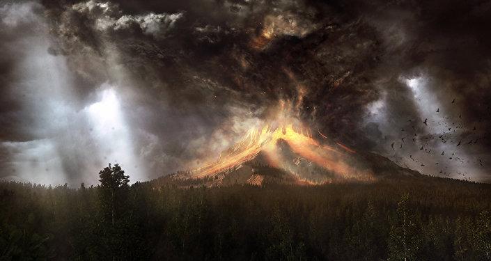 Un volcán activo