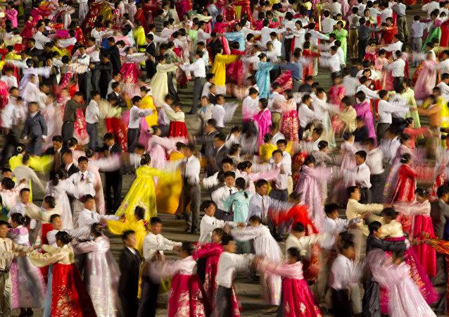 Baile tradicional norcoreano (archivo)