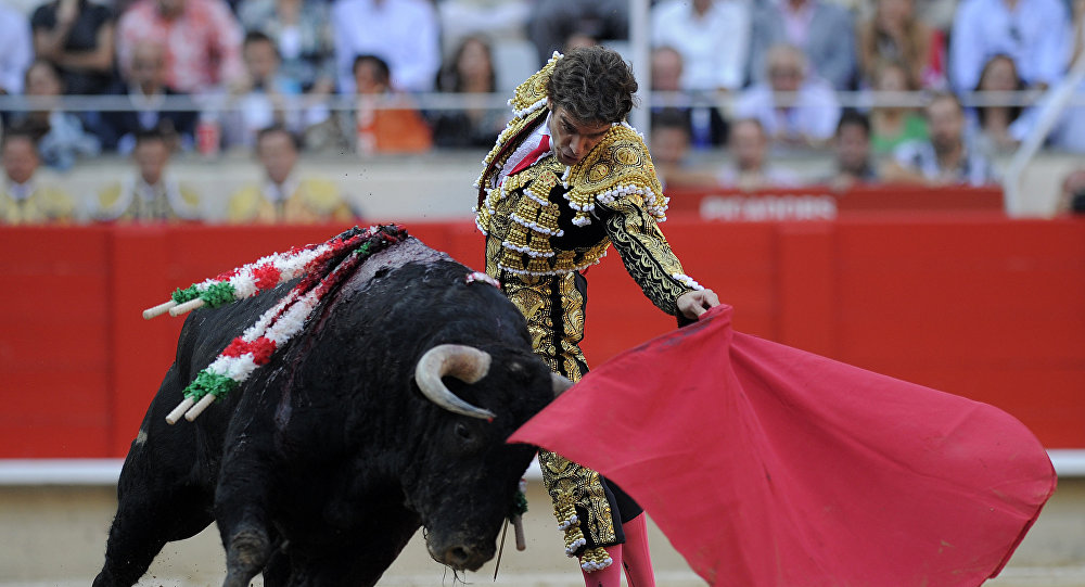 El torero español, José Tomás, en la última corrida en Barcelona en 2011 antes de la prohibición (archivo)