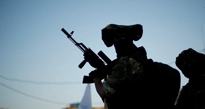 Un miliciano del movimiento palestino Yihad Islámica