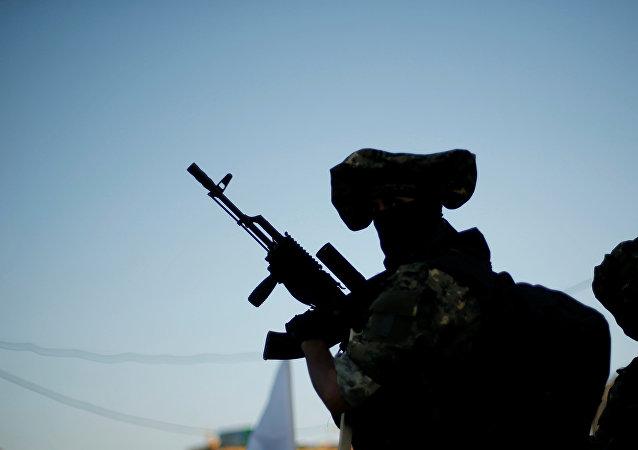 Un militante del grupo palestino Yihad Islámica