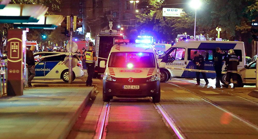 Lugar de la explosión en Budapest (archivo)