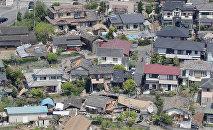 Las casas destruidas en Japón tras un terremoto (archivo)