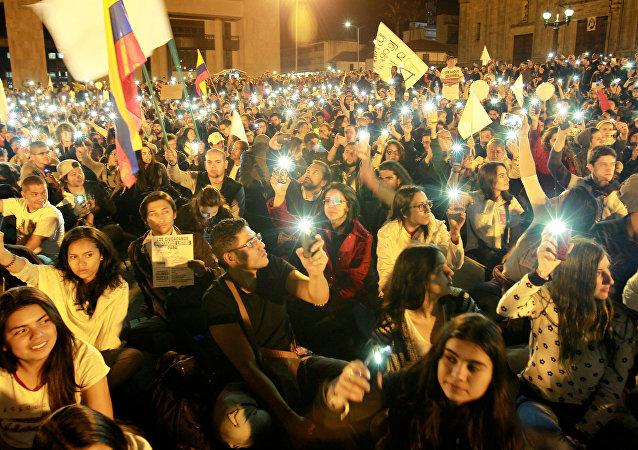 Partidarios del acuerdo de paz con las FARC