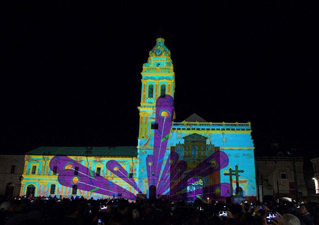 Exhibición en el centro histórico de Quito como parte de la conferencia de la ONU Hábitat III