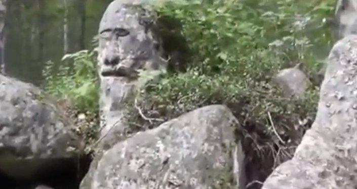 El ídolo de piedra Ust-Taseevsky, en el óblast de Krasnoyarsk.