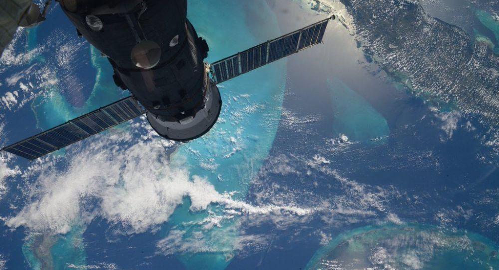 Фотография вида с МКС на Землю, сделанная российским космонавтом Сергеем Волковым