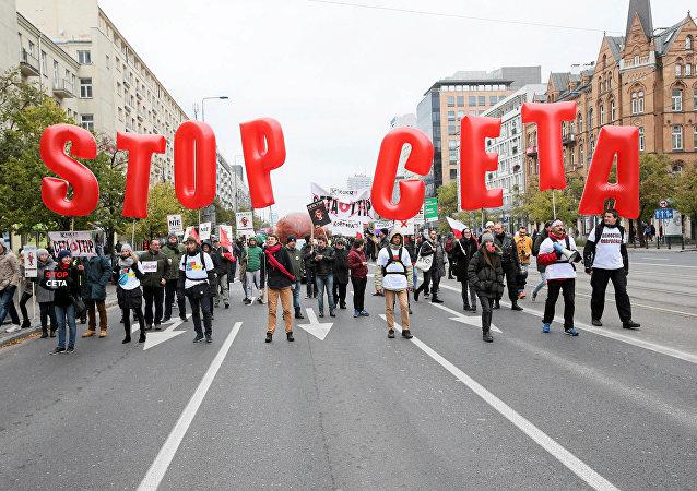 Protesta contra el CETA (archivo)