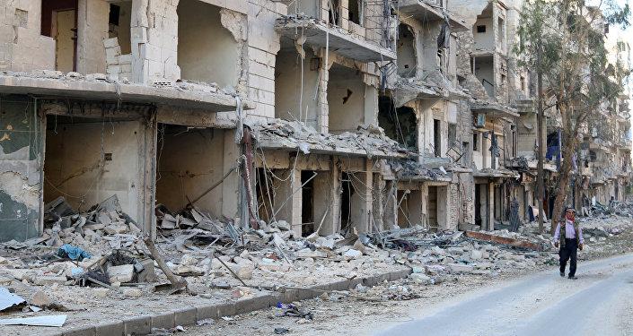 Las ruinas en Alepo (archivo)