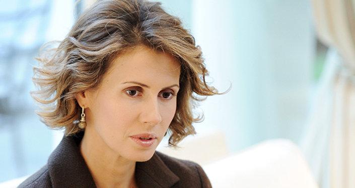 Asma Asad, esposa del presidente de Siria (archivo)