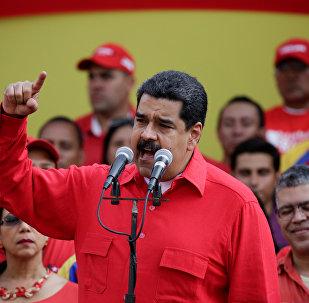 El mandatario venezolano, Nicolas Maduro, durante una intervención ante sus partidarios