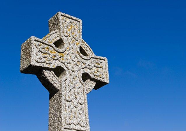 Una cruz celta (archivo)