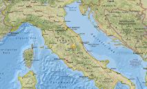 Epicentro del terremoto que sacudió la zona central de Italia el 36 de octubre de 2016
