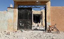 Las consecuencias del bombardeo de una escuela en Idlib, Siria