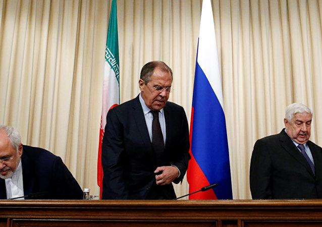 Cancilleres de Irán, Rusia y Siria