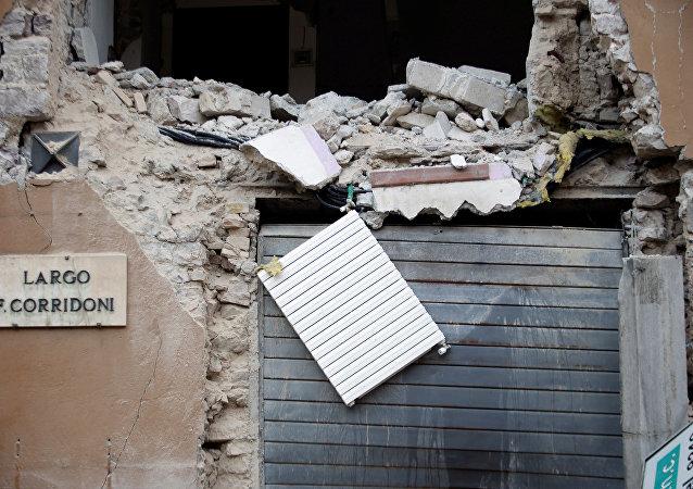 Un edificio destruido por el terremoto en Italia el 27 de octubre de 2016 (archivo)