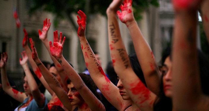 Marcha contra la violencia de género