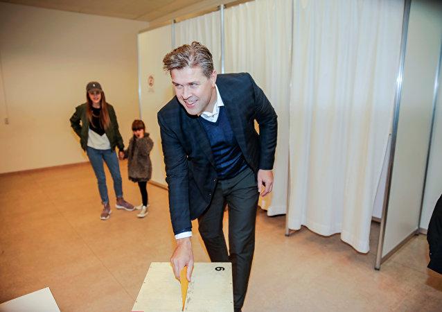 Bjarni Benediktsson, líder del partido de la Independencia de Islandia