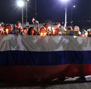 Homenaje a las víctimas del siniestro de A321 ruso en Egipto