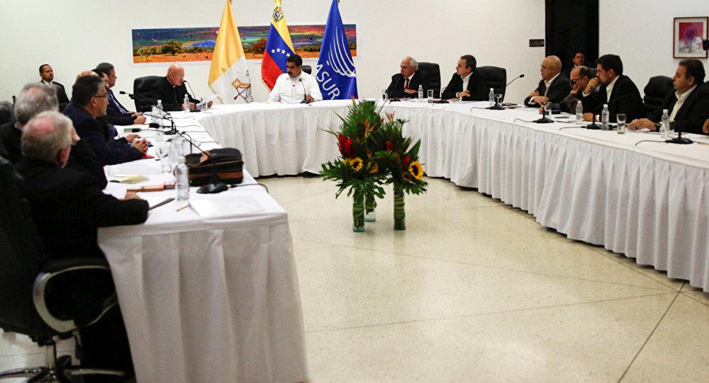 El encuentro entre el Gobierno y la oposición de Venezuela