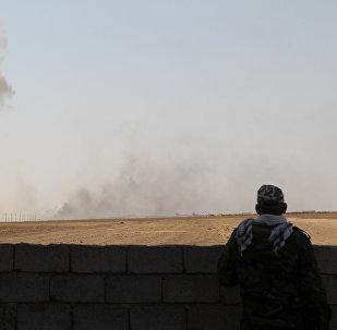 La lucha contra los terroristas de Daesh en Mosul, Siria
