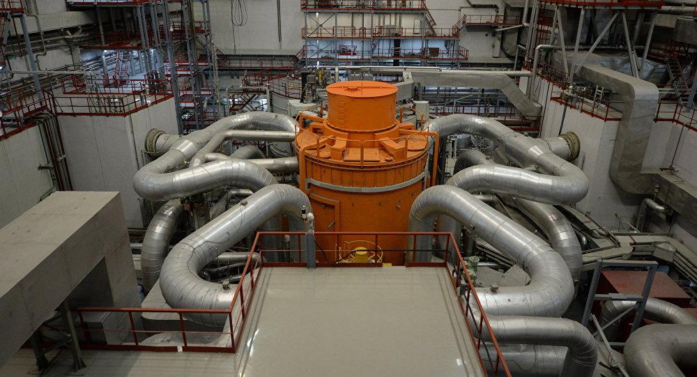 El bloque número cuatro con reactor de neutrones rápidos de la Central Nuclear rusa de Beloyarsk