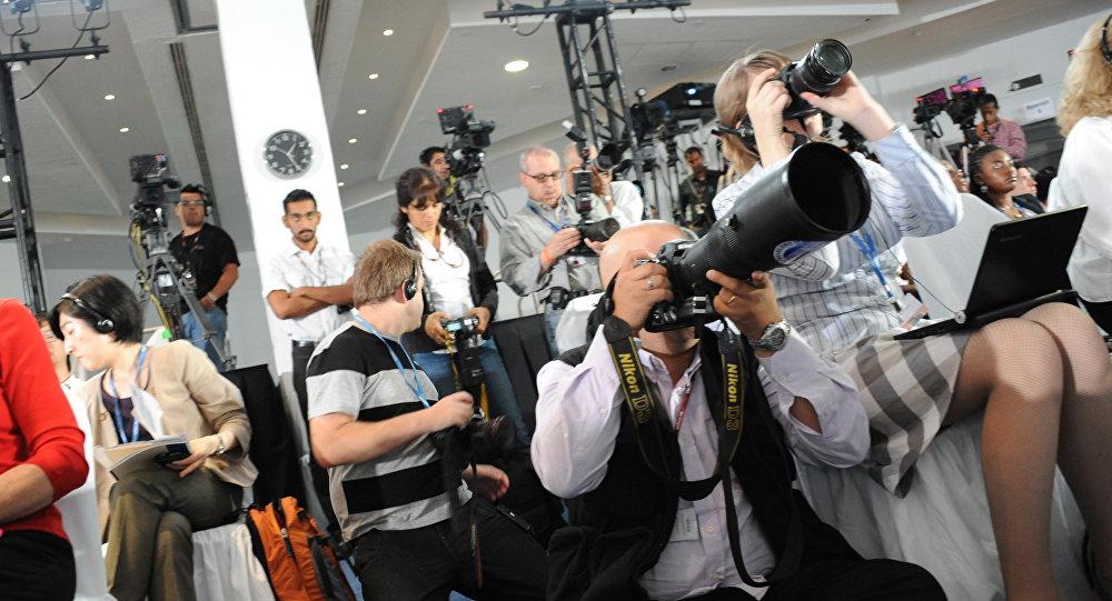 Unos periodistas