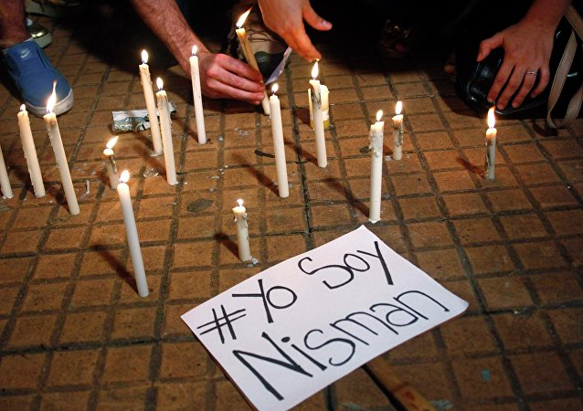 Homenaje a la muerte de Alberto Nisman (archivo)